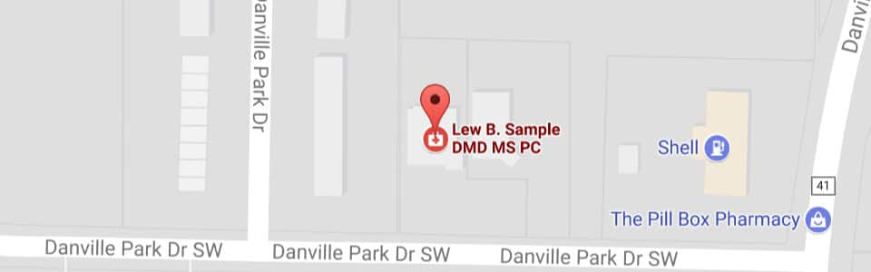Map Lew B. Sample Orthodontics in Decatur, AL